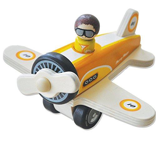 Indigo Jamm Percy Plane IIJ8091 Wood Toy Vehicle