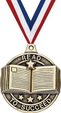 Crown Awards Gold Reading Medals - 2