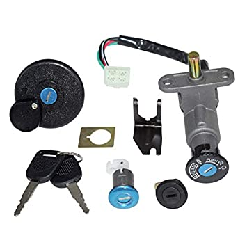 Amazon.com: 4 Wires Scooter Ignition Switch Kit for GY6 50cc ... on