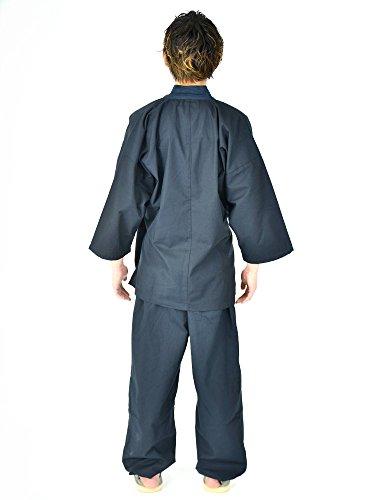 Edoten Men's Japan Kimono Ninjya Cotton100% Samue Nevy XXL by Edoten (Image #5)