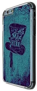 Carcasa Posterior de 13.9cm de Plástico Duro & Metal a la Moda con Diseño de Arte de Caricatura Divertido de Sombrero de Mad Hatter para iPhone 6 Plus