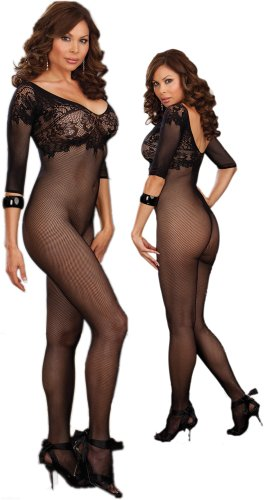 Plus Size Open Crotch Body Stocking
