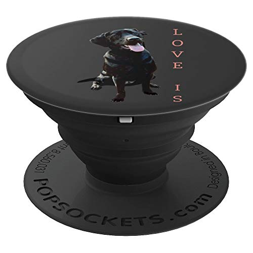 Labrador Retriever Girls Boys Women Men Kids Black Lab Mom - PopSockets Grip and Stand for Phones and Tablets