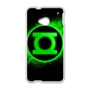 HTC One M7 Cell Phone Case White Green Lantern udys