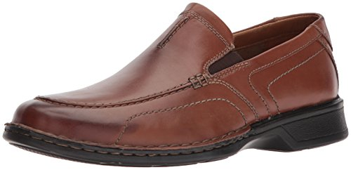 CLARKS Men's Northam Race Shoe, Brown Leather, 8 Medium US