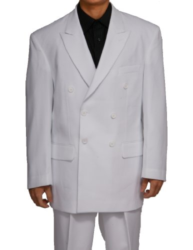 New Double Breasted (DB) White Men's Business Dress Suit,...