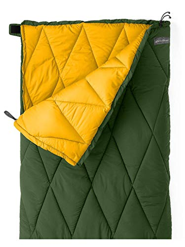 Eddie Bauer Unisex-Adult Cruiser 40º Sleeping Bag, Evergreen Regular ONE Size