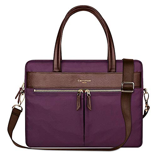Cartinoe Laptop Tote Bag, Women Waterproof Laptop Bag Briefcase RFID Blocking Ultrathin Nylon Business Ladies Work Handbag Shoulder Messenger Carrying Bag for 14 15 inch MacBook Ultrabook, ()
