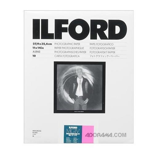 (Ilford Multigrade IV RC Deluxe Resin Coated VC Variable Contrast Black & White Enlarging Paper - 11x14