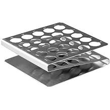 Stainless Steel Test Tube Rack, 16mm, 25 Place, Z-shape, Karter Scientific 208S3 (Single)