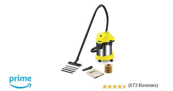 Kärcher WD3 Premium - Aspirador en seco y húmedo, 1000 W, 17 l con depósito en acero inox: Amazon.es: Bricolaje y herramientas