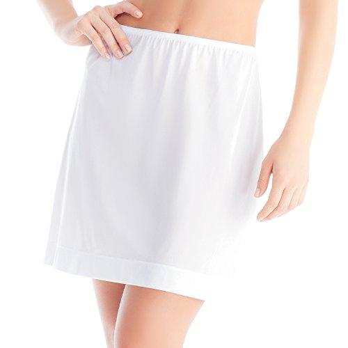 Women's Basic Half Slip Skirt Medium White 18