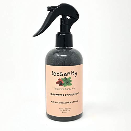 Rosewater Peppermint Moisturizing and Tightening Spray Mist w/Black Hawaiian Sea Salt ()