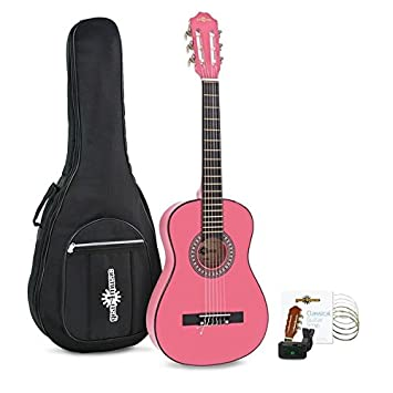 Pack de Guitarra Española Junior 1/2 de Gear4music - Rosa: Amazon.es ...