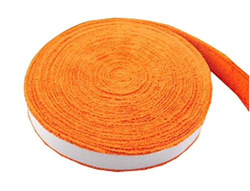 Panda Superstore Badminton Crank Handle - Tennis, Badminton Hand Gel Towel - Orange by Panda Superstore