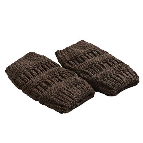 Sunhusing Women Winter Warm Knit Leg Warmers Crochet Leggings Slouch Boot Socks (Coffee)