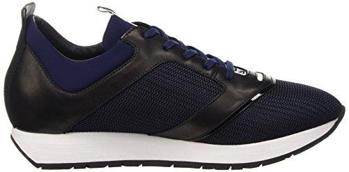 Bikkembergs Runn-er 786 Low Shoe W Fab/Leather, Sandalias con Plataforma para Hombre Azul