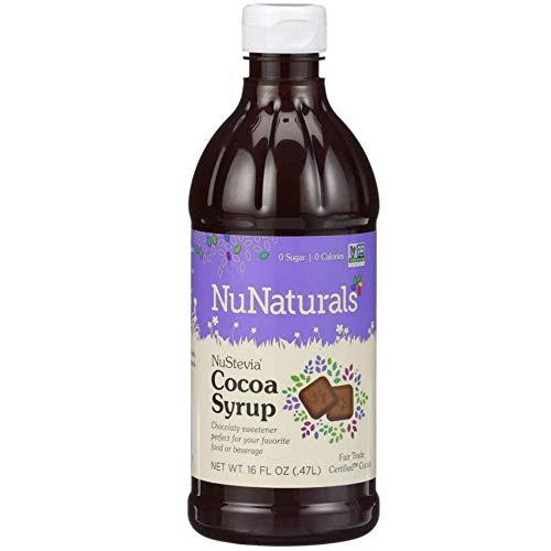 NuNaturals NuStevia Sugar-Free Cocoa Syrup Natural Stevia Sweetener with 0 Calories, 0 Sugar, 0 Carbs, 385 Servings (16 oz)