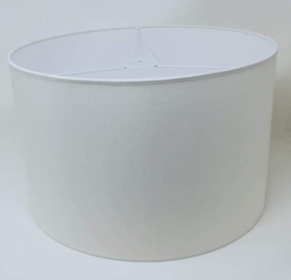 Tischleuchte Zylinder Lampenschirm Baumwolle Stoff handgefertigt f/ür Deckenleuchte Stehlampe Schwarz, 50 cm Durchmesser 25 cm H/öhe