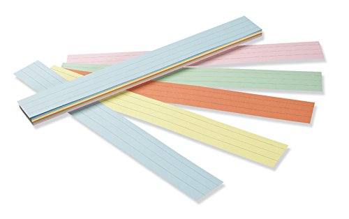 Pacon Sentence Strip Classroom Practice Paper, Assorted Colors (5165)