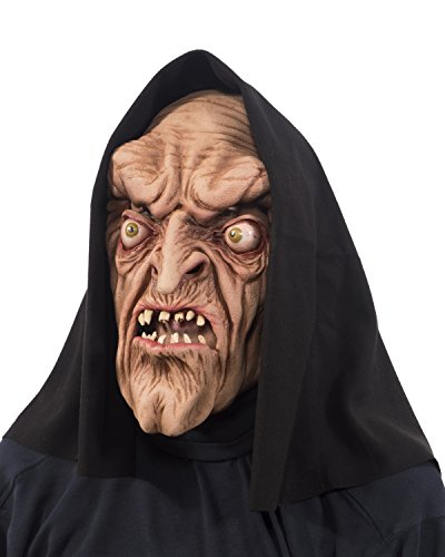 Zagone Studios Original Warlock Witch Monster Mask with Attached Hood ()
