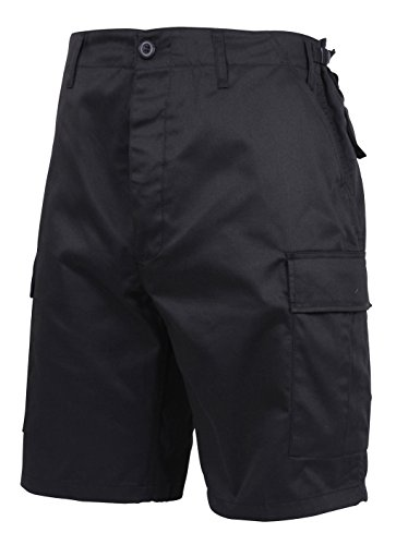 Style Black Short (Rothco Men's Ultra Force Military Style BDU Combat Shorts, Black, Large Regular (Waist:35