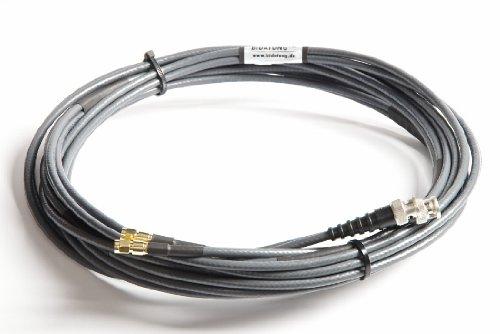 Bidatong Twin Koaxkabel 8m fü r LTE MIMO Antenne/Router - Belden H155 - BNC Stecker - SMA Stecker