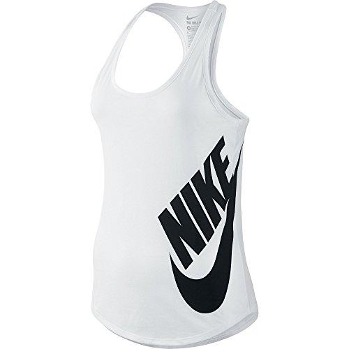 Nike Grafische Racerback Tanktop Wit / Zwart