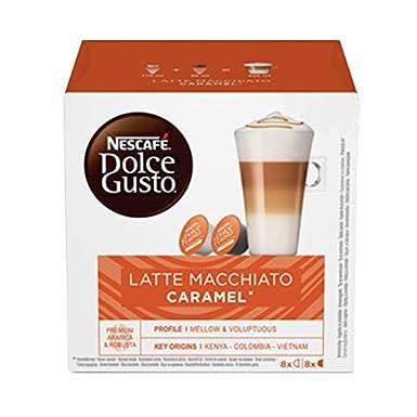 NESCAFÉ Dolce Gusto 7613033024207 Café molido de tueste Natural y Leche en Polvo con azúcar Sabor a Caramelo, 3 x 169 Total: 507 gr