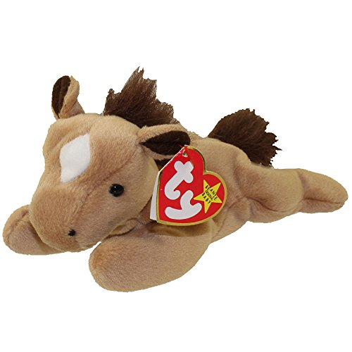 Ty Beanie Babies Derby the Horse (Star and Faux Fur Mane)