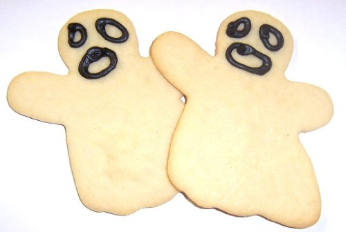 Scott's Cakes Ghost Sugar Cookies in a 1 Pound White Bakery Box (Shippable Cookies)