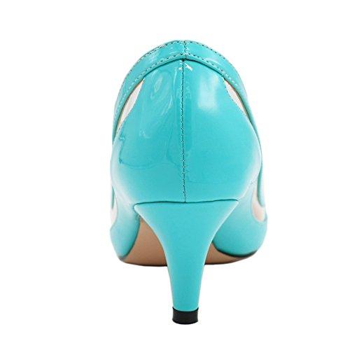 EKS - Zapatos de tacón fino Mujer Azul - Blau-Lackleder
