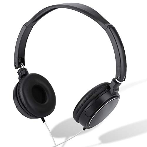 Bewinner Over-Ear Headphones, Foldable Compact Wired Headset, Easy to Adjust/Sports/Lightweight Stereo HiFi Music Headphone Support TF Card