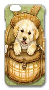 For Ipod Touch 4 Case Cover -Puppy Backpack PC Hard Plastic For Ipod Touch 4 Case Cover 3D