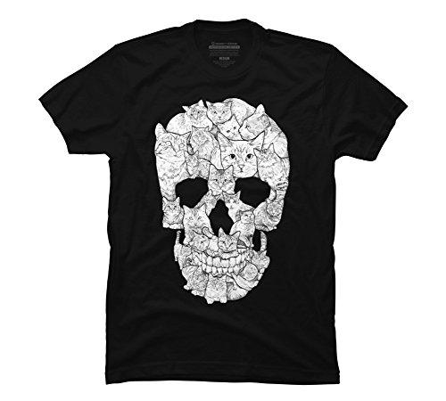 Design By Humans Sketchy Cat Skull Men