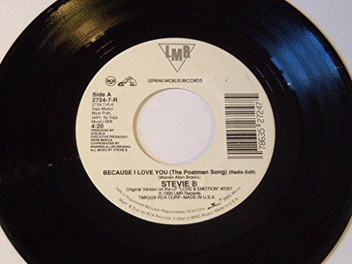 "Price comparison product image Because I Love You (The Postman Song) / Same (Radio Edit) 7"" 45 - LMR (Lefrak-Moelis) / RCA - 2724-7-R"