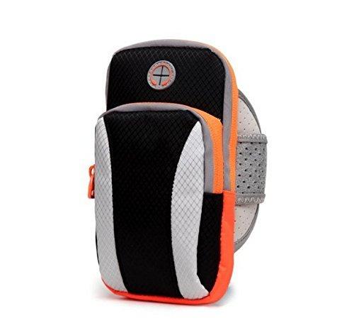 Workout Running Sports Gym Zipper Armband Case Pouch for LG Stylo 3 / Samsung Galaxy S8 Active / Motorola Moto G5s Plus / E4 Plus / Z2 Play / OnePlus 5 / HTC U11 / U Ultra (Black)