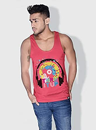 Creo Turn It Up Trendy Tanks Tops For Men - L, Pink