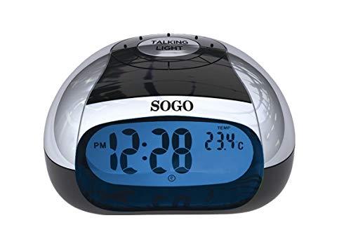 SOGO SS-3905 Reloj Despertador de Mesa con Voz Color Ne