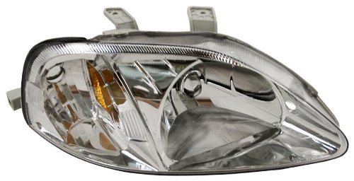 OE Replacement Honda Civic Passenger Side Headlight Assembly Composite (Partslink Number HO2503113)