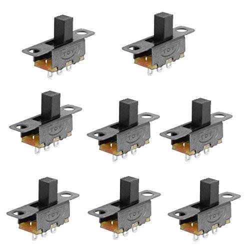 (uxcell 8 Pcs 2 Position SPDT 1P2T Panel Mount Vertical Slide Switch 3 Solder Lug)