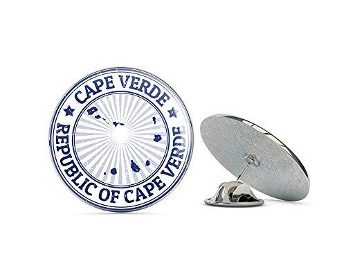 "Leyland Designs Cape Verde Grunge Stamp Metal 0.75"" Lapel Hat Pin Tie Shirt Backpack Tack Pinback"