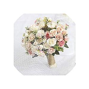 Wedding Bouquet Handmade Artificial Flower Rose buque Casamento Bridal Bouquet for Wedding Decoration Ramos de Novia 23