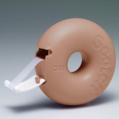 3M Scotch Donut Tape Dispenser - Caramel Brown - 12 mm X 11.4 m Photo #3