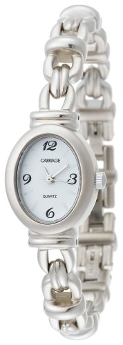 Timex Womens Dress Silver-Tone Bracelet Mother of Pearl Face Callie Watch - Timex Carriage Womens