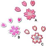 【プロ野球 阪神タイガースグッズ】桜ワッペン種類:B 芯銀・銀縁