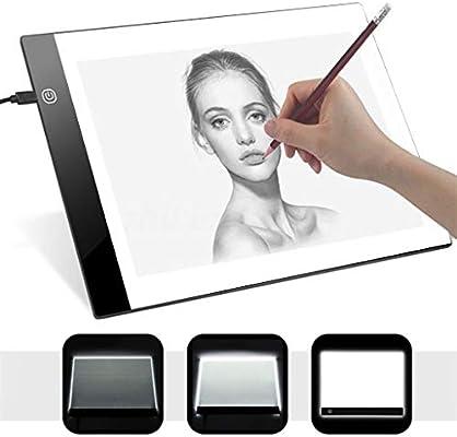 Amekon LED Tableta de dibujo digital portátil Mesa de luz dibujo ...