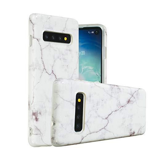 Galaxy S10 Plus Case, Yoomer Marble Creative Design Slim-Fit Ultra-Thin Soft Silicone Bumper Shockproof Gel TPU Rubber Glossy Skin Anti-Scratch Anti-Finger Print Case for Samsung Galaxy S10 Plus 6.4