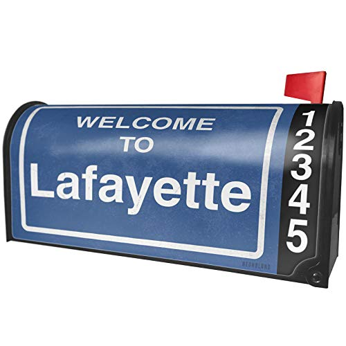 NEONBLOND Sign Welcome to Lafayette Magnetic Mailbox Cover Custom ()