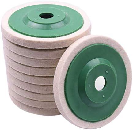 Jaimenalin 10 StüCke 100 Mm 4 Zoll Wolle Polieren Runde Polier Scheiben Pads Polier Scheiben für Kupfer Eisen & Aluminium Metall Polier Werkzeuge